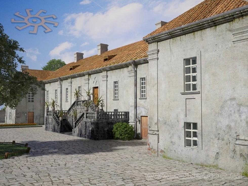 Вхід до палацу. 3D-реконструкція Миколи Лінника