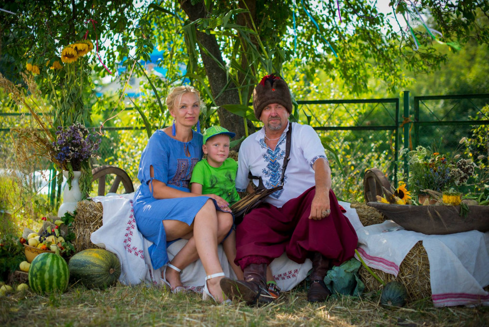 Підприємець Микола Сидор з сім'єю
