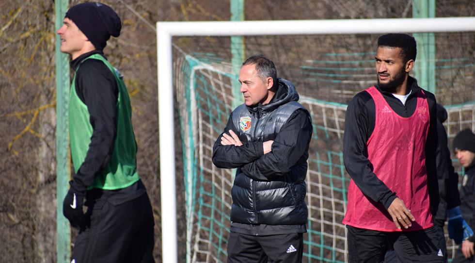 Віталій Косовський на першому тренуванні нової команди. Фото - vorskla.com.ua.