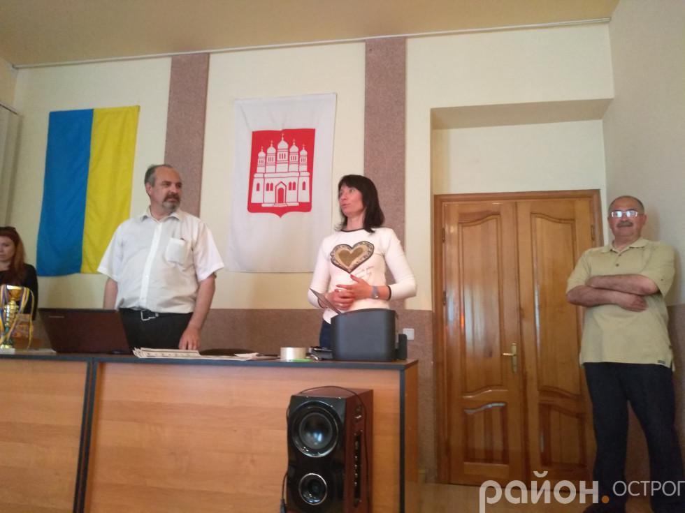 Присутніх вітає Оксана Ситницька
