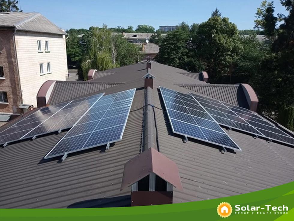 Соняна станція для заміщення власного електроспоживання м.Рівне