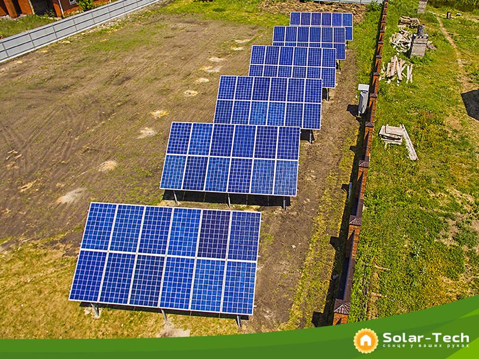 Так виглядає наземна сонячна станція потужністю 18,7 кВт під «зелений» тариф