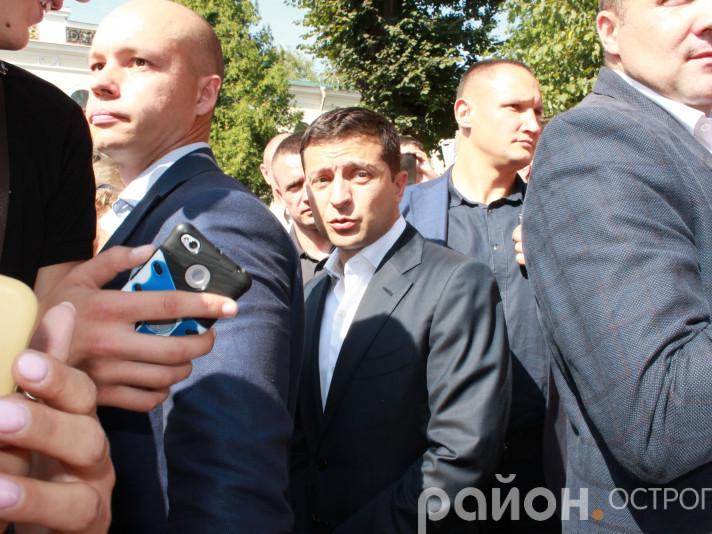 Володимир Зеленський у тісному колі охоронців