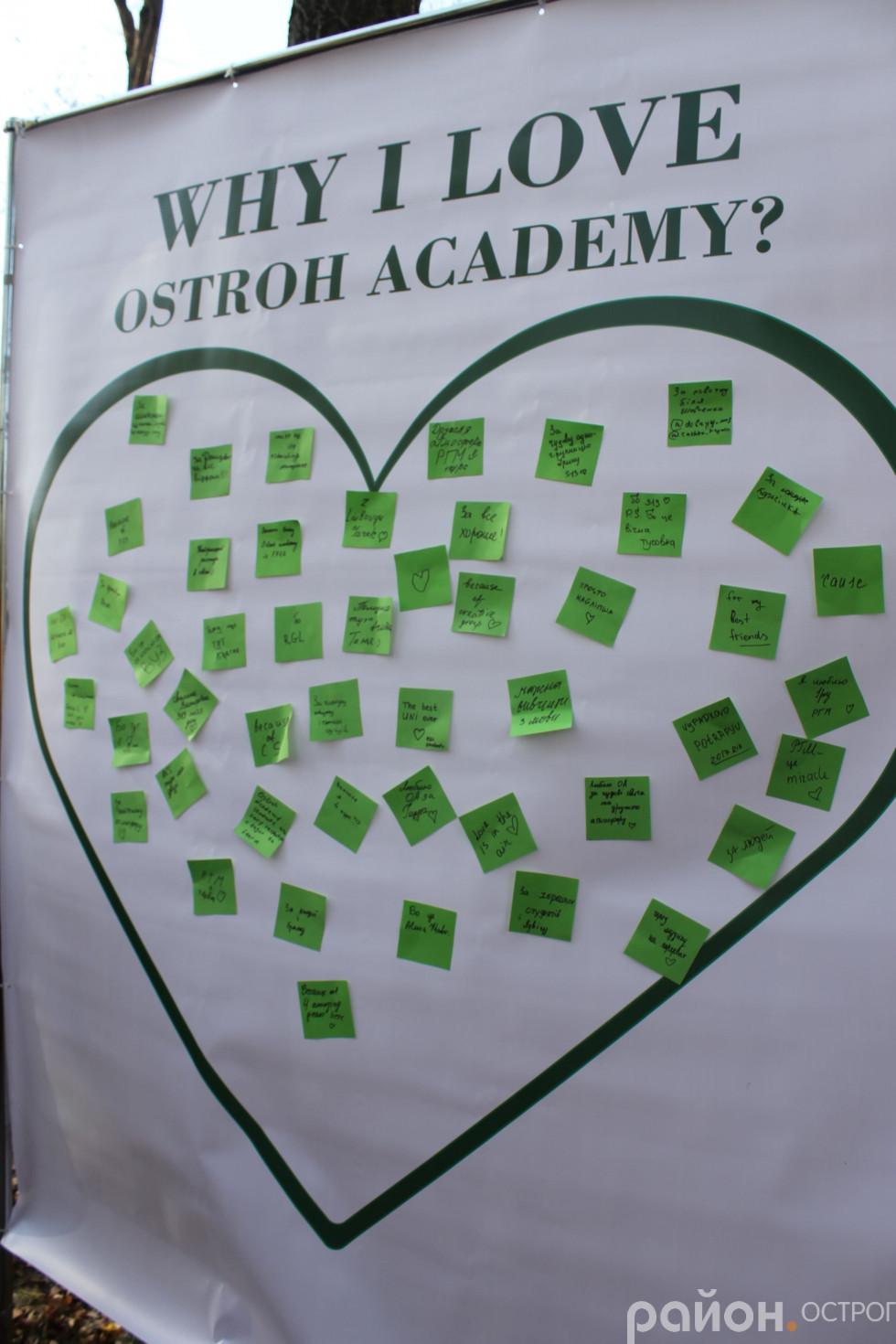 «Чому я люблю Острозьку академію?»