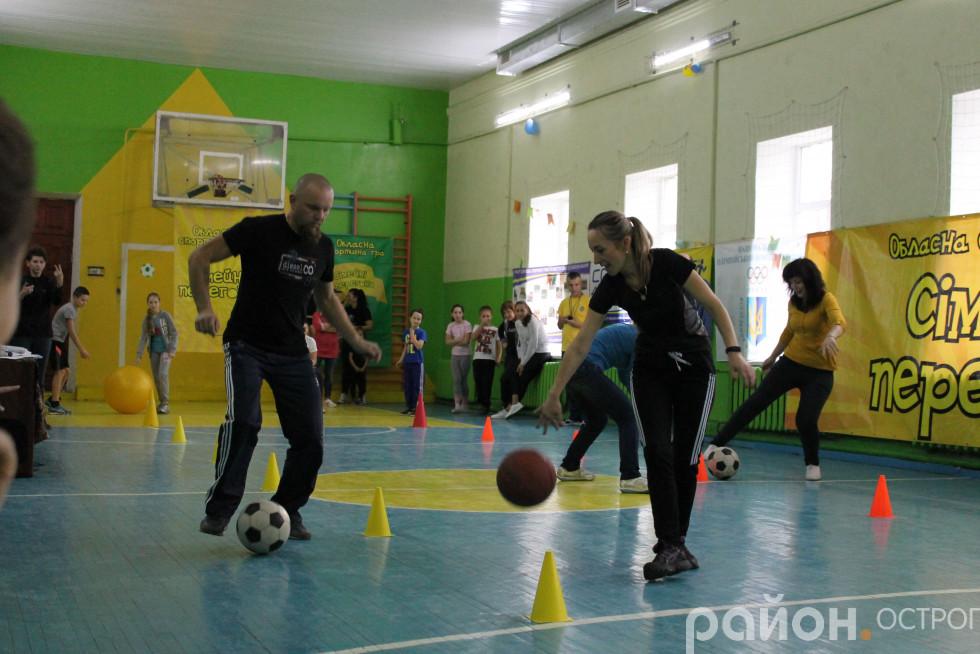 Естафета ведення м'яча