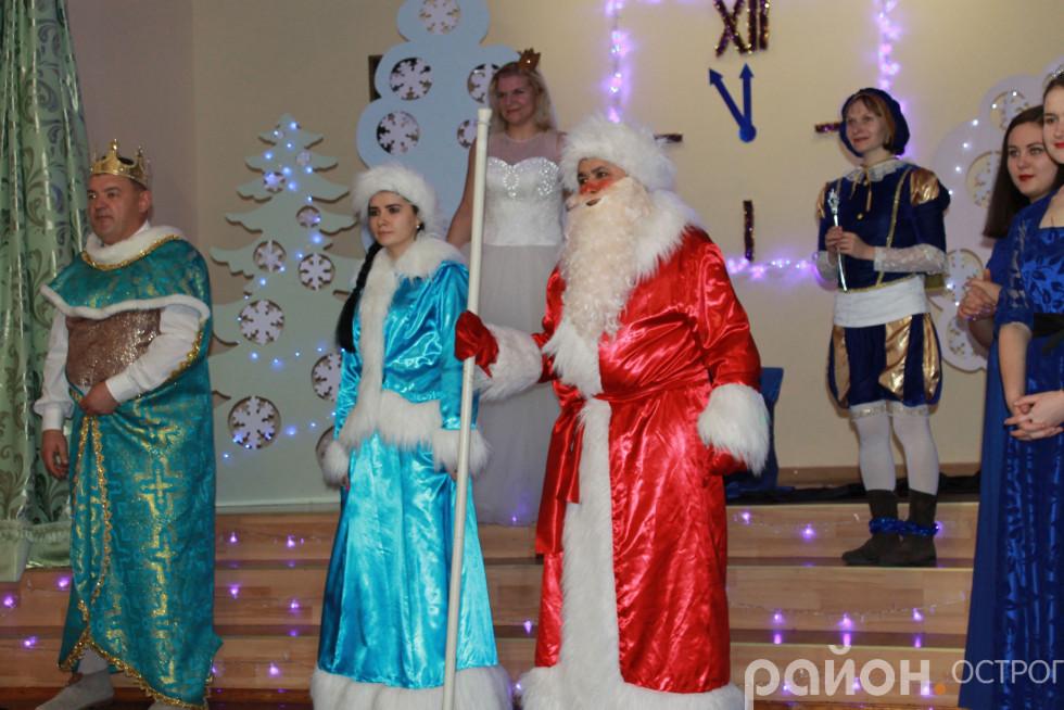 На завершення в гості завітали Дід Мороз і Снігурочка