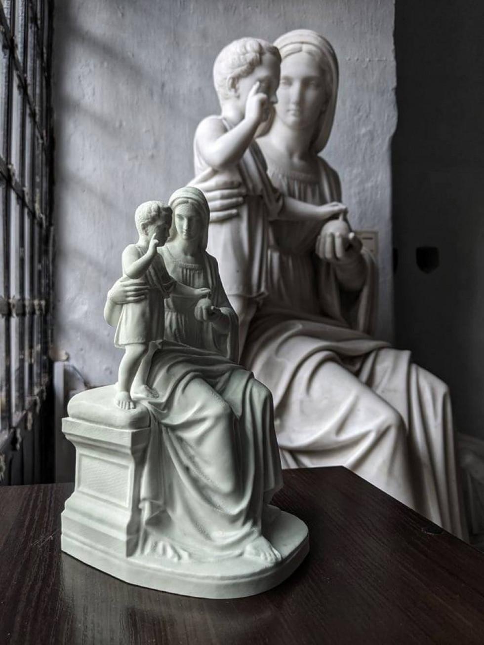 Скульптура Томаша-Оскара Сосновського та її ЗD копія