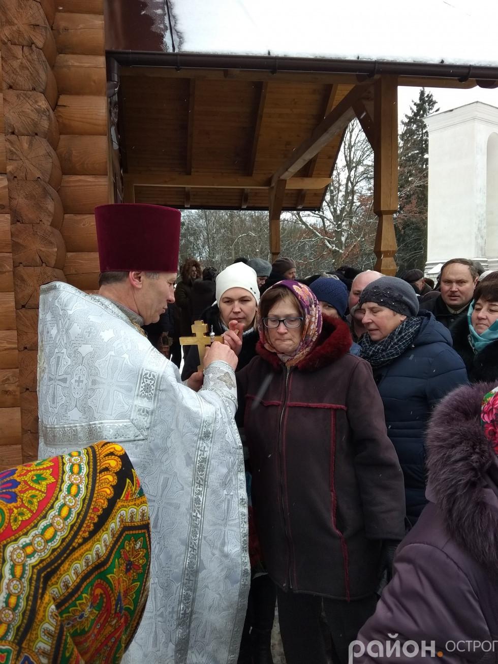 Під час служби в Свято-Миколаївській церкві
