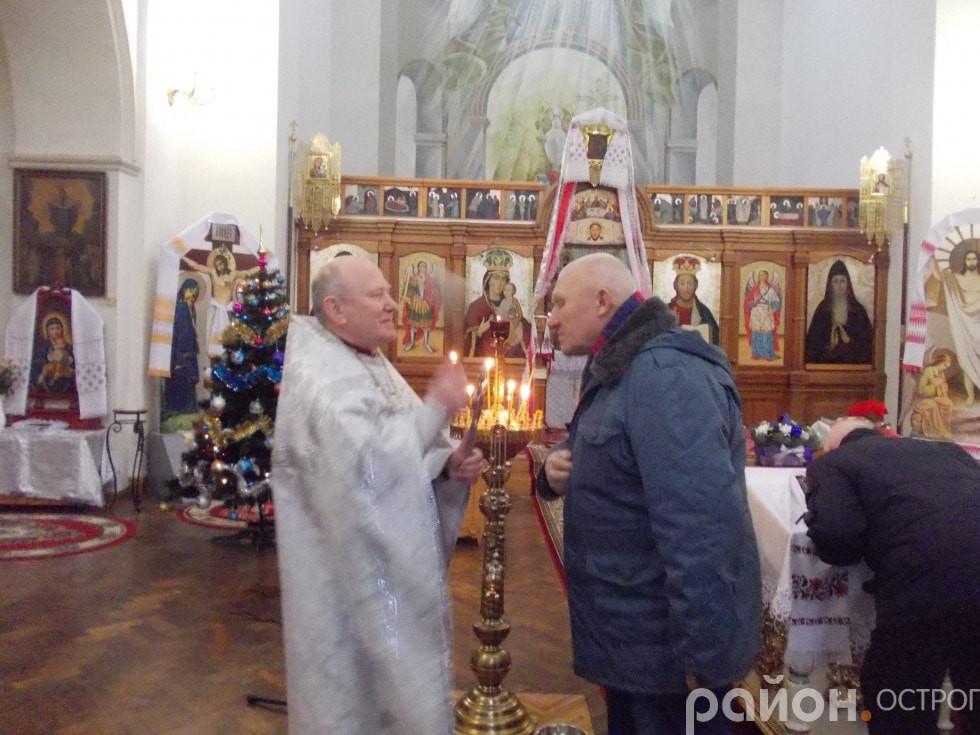 Під час літургії у Студентсько-викладацькому храмі преп. Федора Острозького