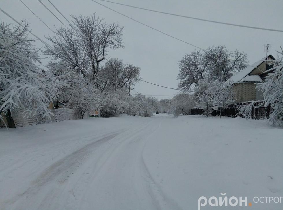 Дорога вул. Огієнка