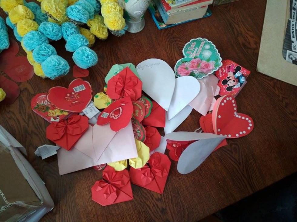 Валентинки, які написали школярі села Грем`яче
