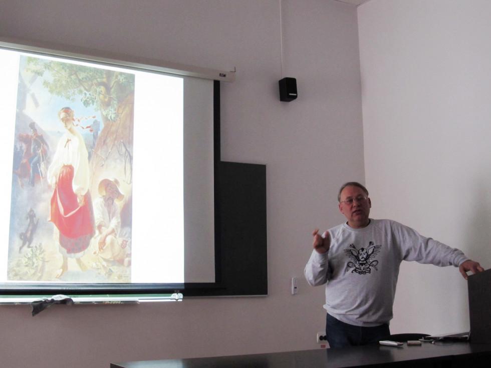 М. Бендюк говорить про символізм картини «Катерина»