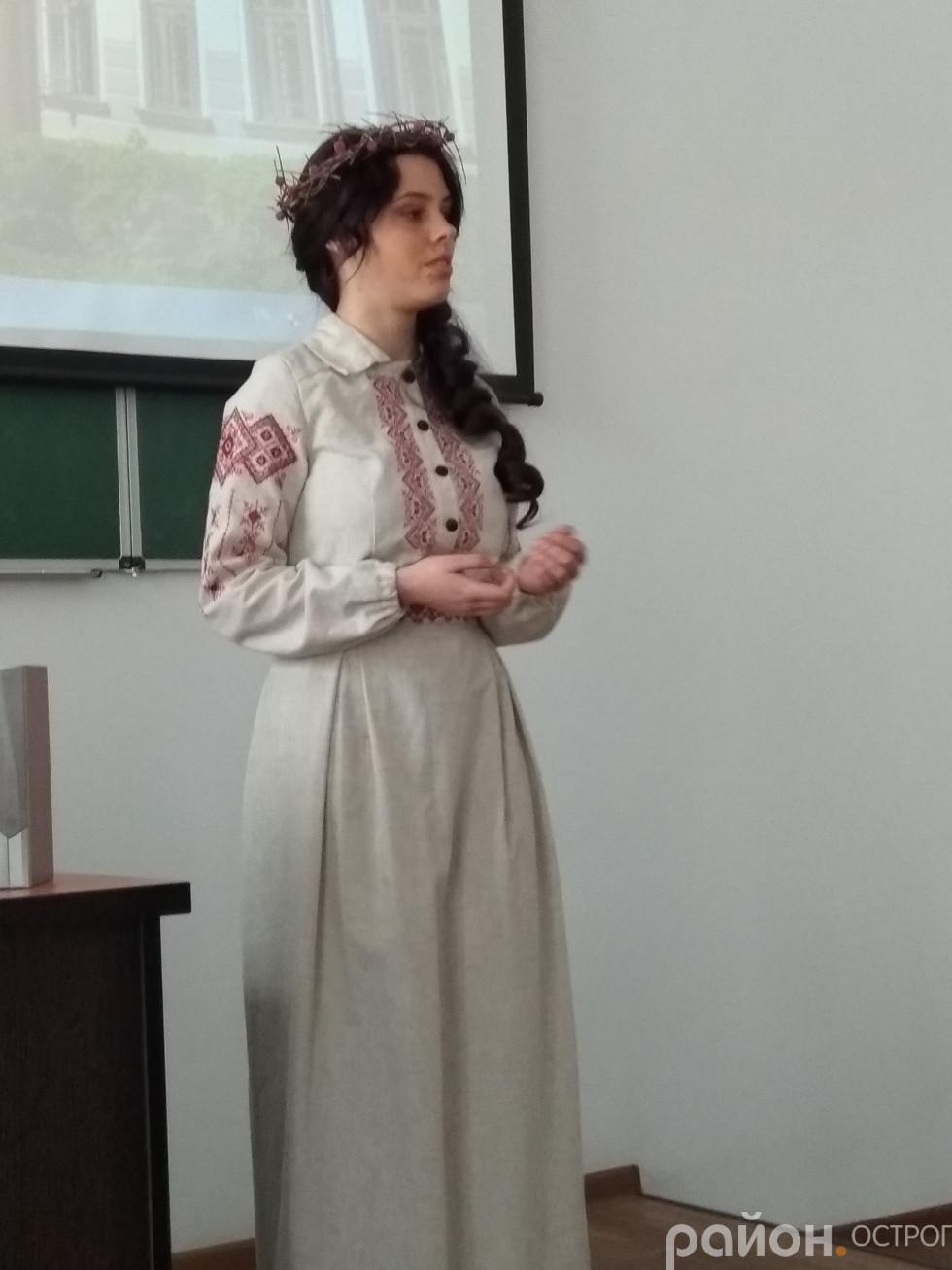 Стицюк Вероніка читає вірш Т. Шевченка