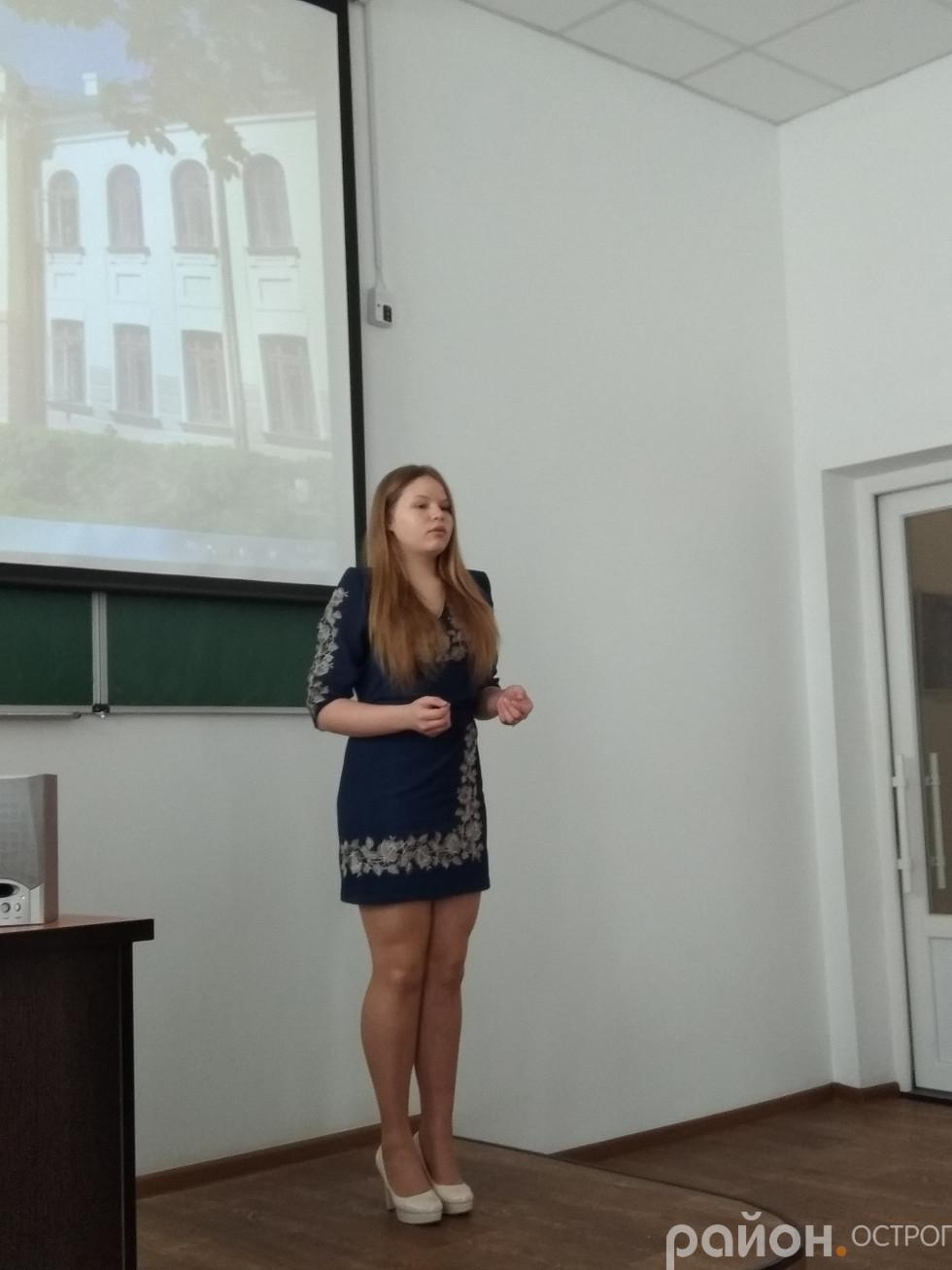 Легейзюк Ілона читає вірш Ліни Костенко