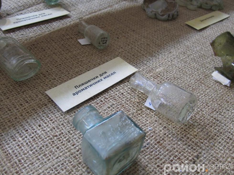 Пляшечки віднайдені під час розкопок