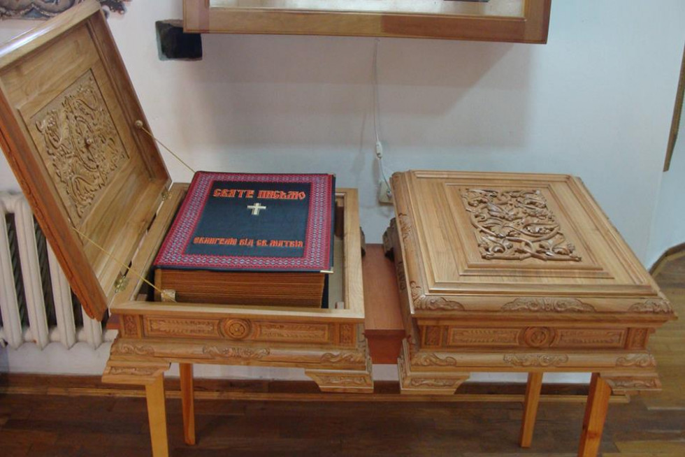 Скриньки, виготовлені спеціально для вишитих Євангелій