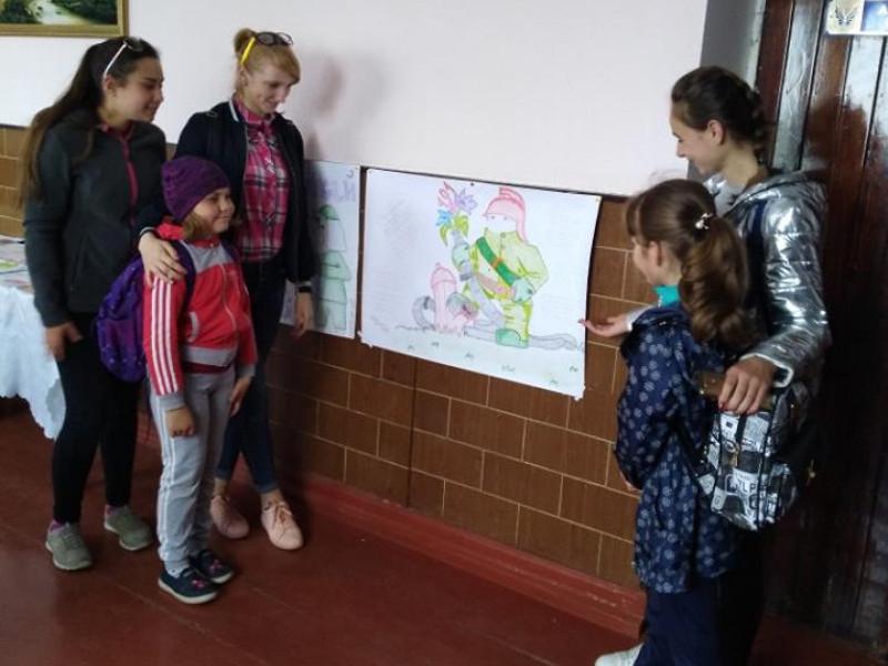Конкурс малюнків до Дня цивільної оборони в Хорівській ЗОШ