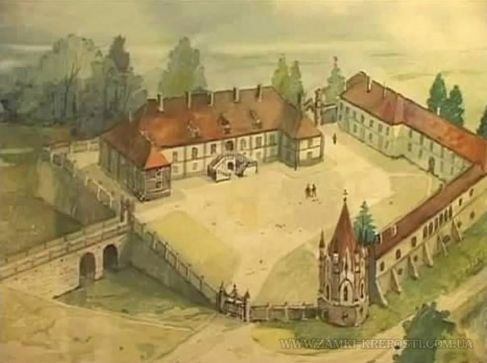 Новомалинський замок, намальований Наполеоном Ордою
