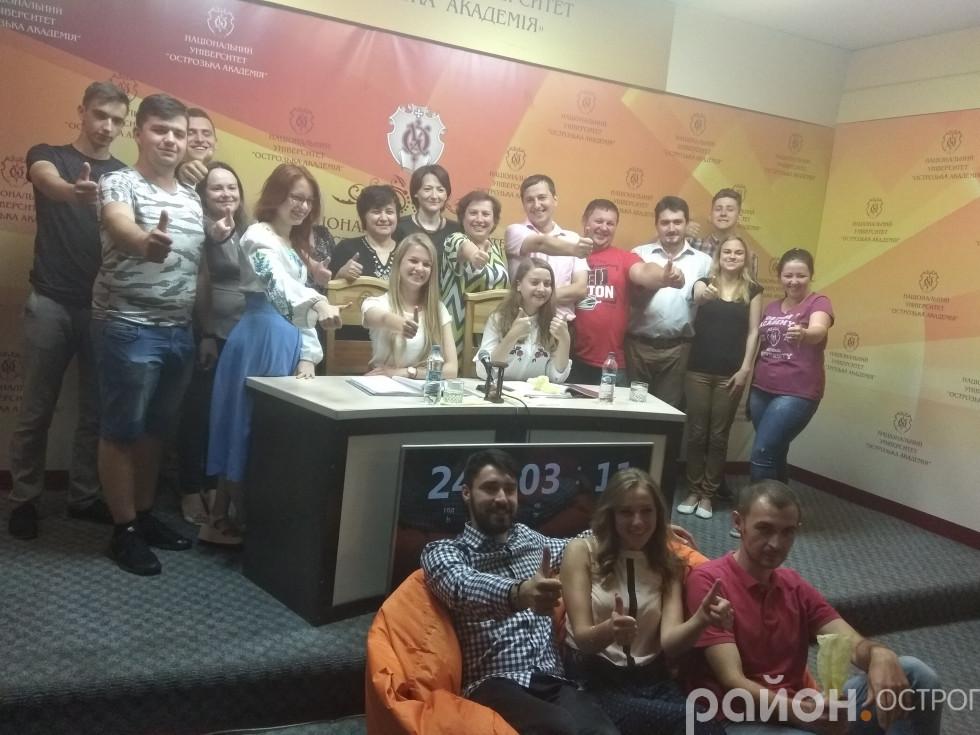Команда НаУОА, яка дбала про організацію та проведення марафону