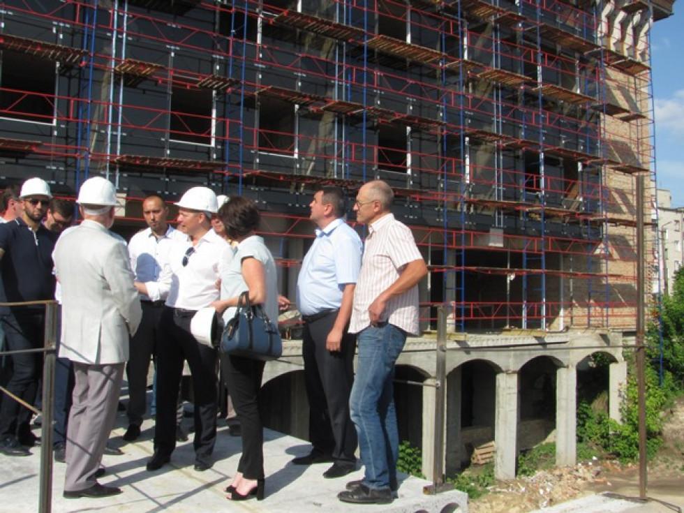 На будівництві нового корпусу НаУОА
