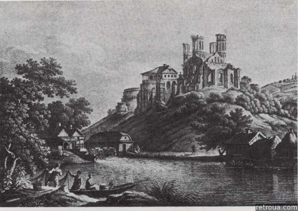 Замок Острозьких над Вілією. 1860 рік
