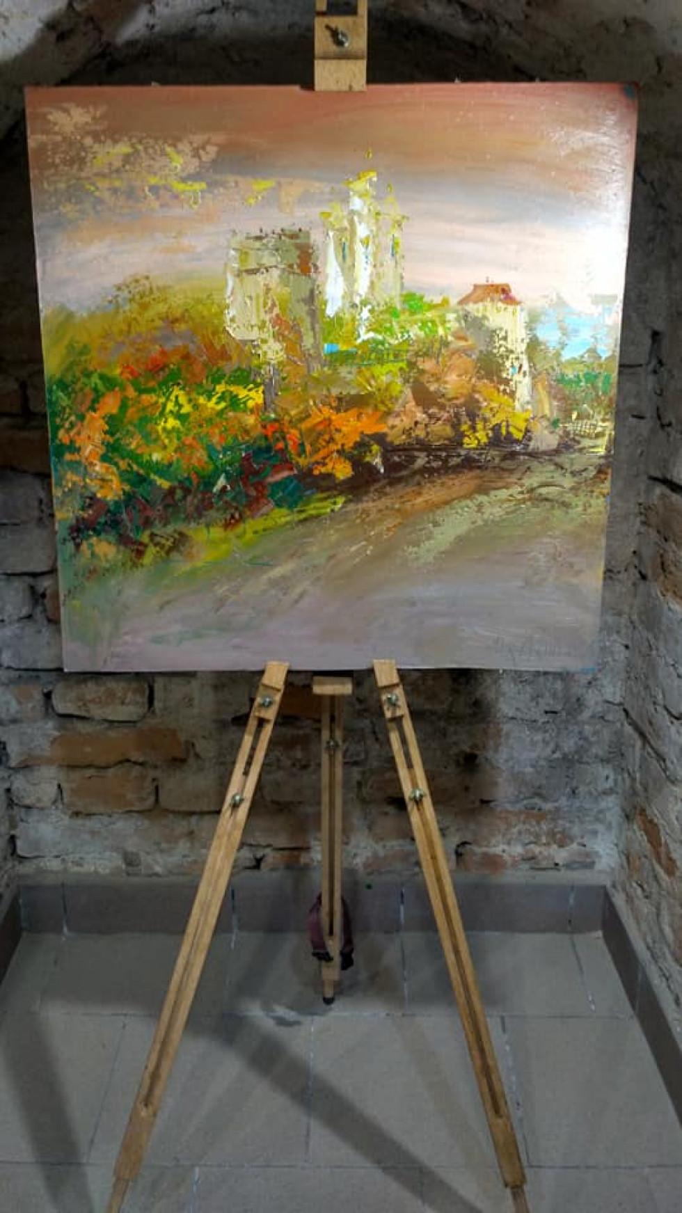 Острог на картинах Леоніда Ковриги. Замкова гора
