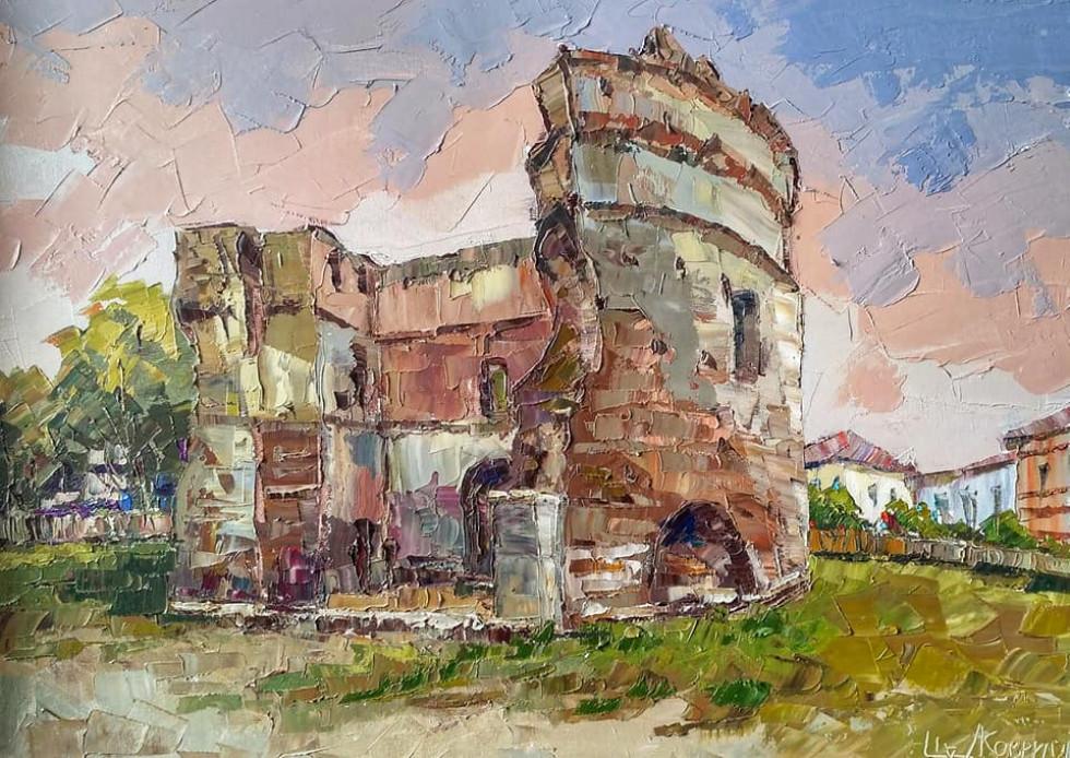 Острог на картинах Леоніда Ковриги. Татарська вежа