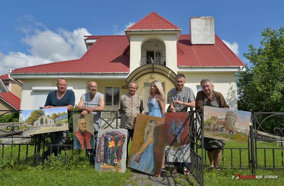 Учасники пленеру. Фото Олександра Харвата