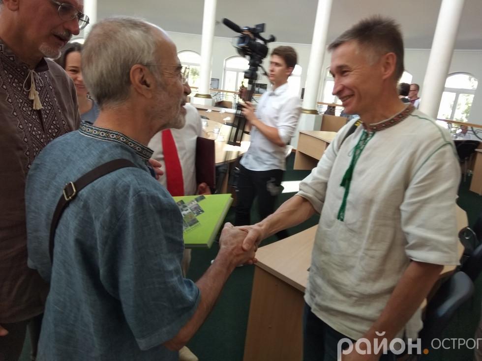 Поспілкуватися з колегою завітав Олександр Харват