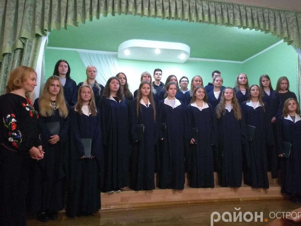 Хор НаУОА під час концерту