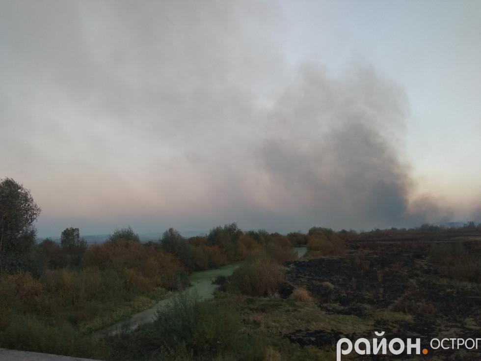 Пожежа станом на вечір 16 жовтня