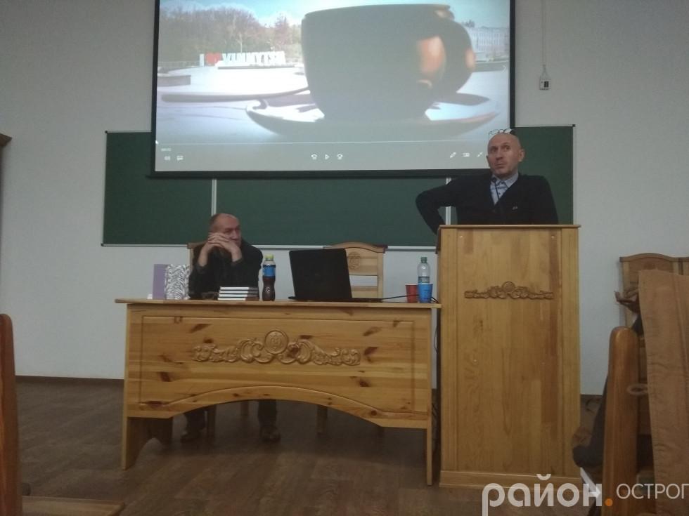 Олександр Ірванець, Сергій Татчин під час презентації
