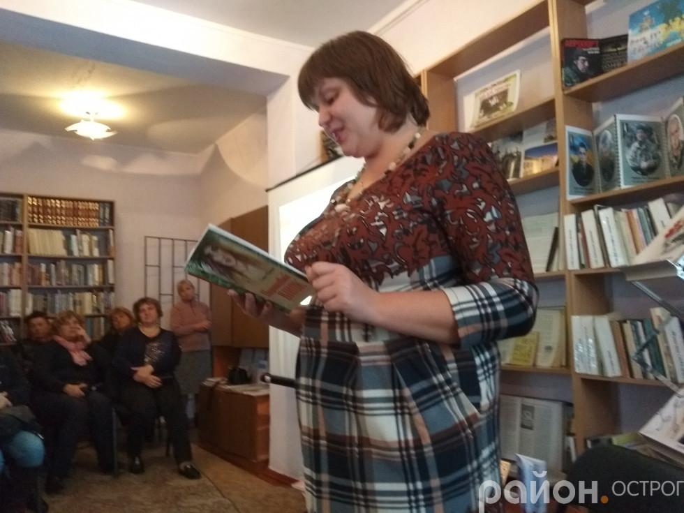 Галина Філонюк читає свої твори