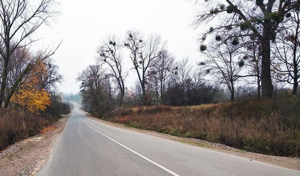 На автодорозі укладено вирівнювальний шар асфальту й нанесено розмітку