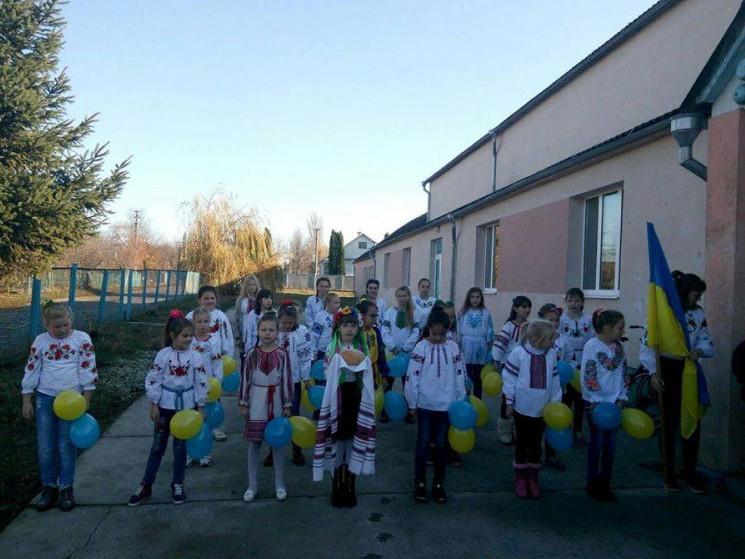 Флешмоб в Українківській ЗОШ