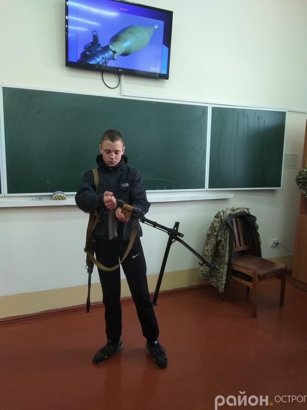 Школярів неабияк зацікавила зброя