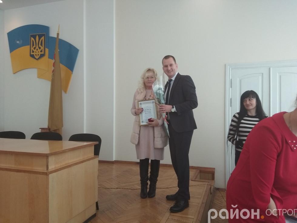 Надії Дем'янчук уручили грамоту