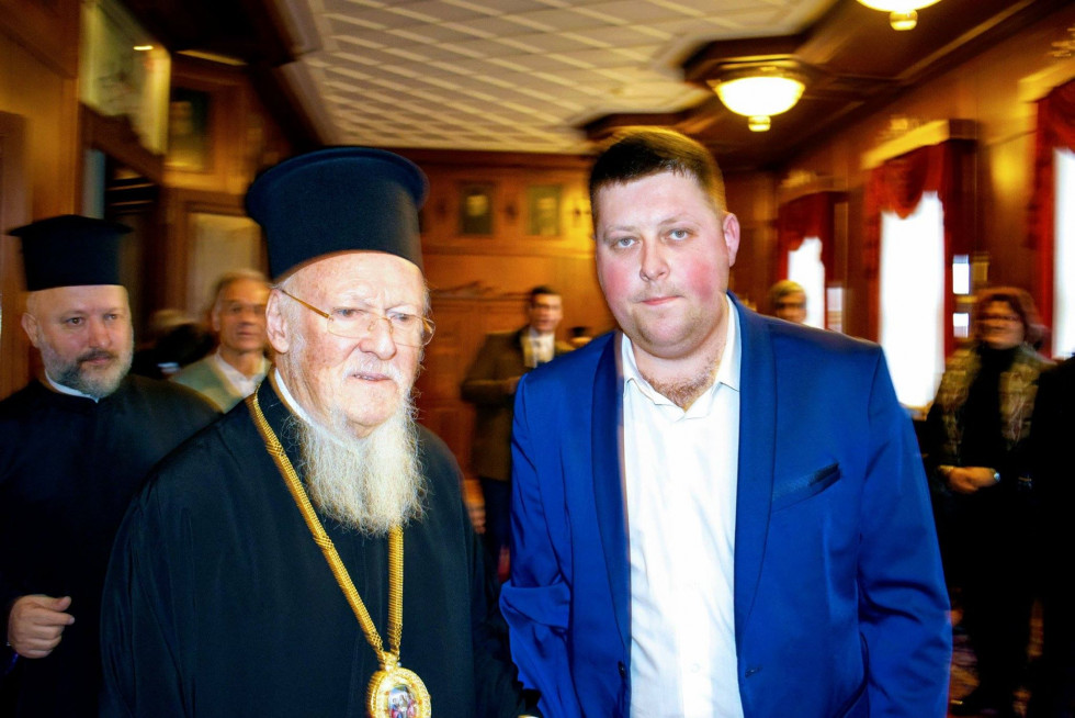 Ігор Дмитрук зі Вселенським патріархом Варфоломієм