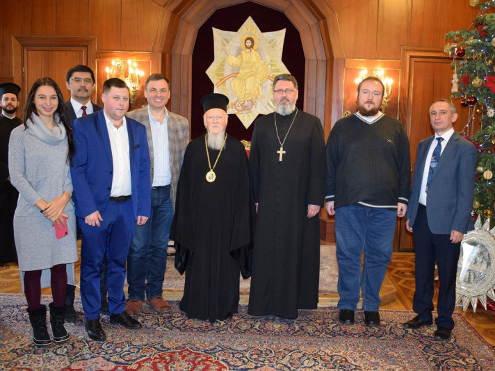 Делегація після зустрічі зі Вселенським патріархом Варфоломієм