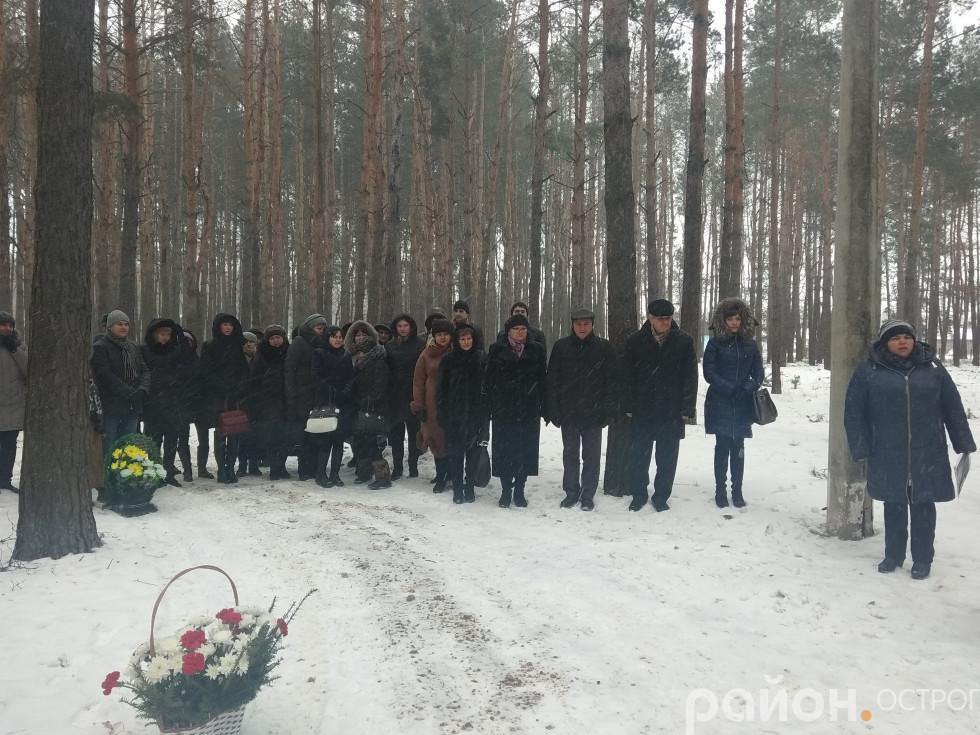 В урочищі Красностав ушанували пам'ять жертв Голокосту