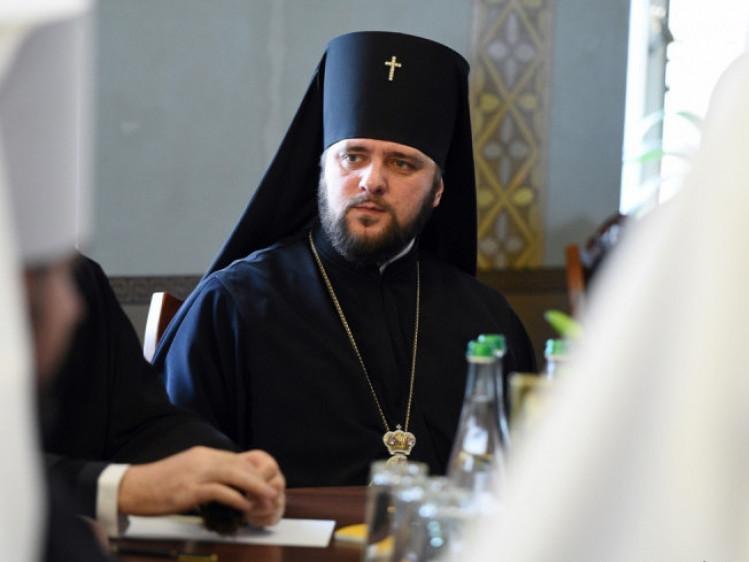 Архієпископ Рівненський і Острозький Іларіон на засіданні Синоду ПЦУ