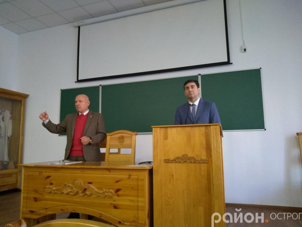 Ігор Пасічник, Дмитро Лубінець на зустрічі зі студентами