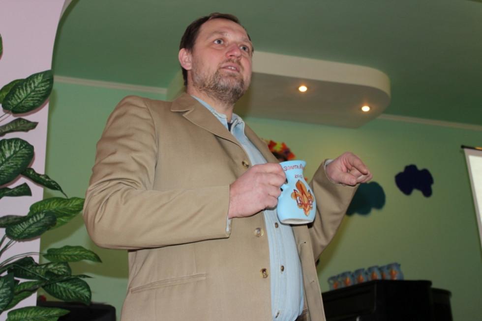 Один із засновників Пластового осередку в Острозі Юрій Ткачук