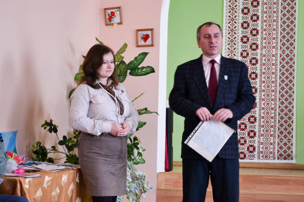 Наталя Мантула та Олександ Юрчук (засновник пласту в Острозі)