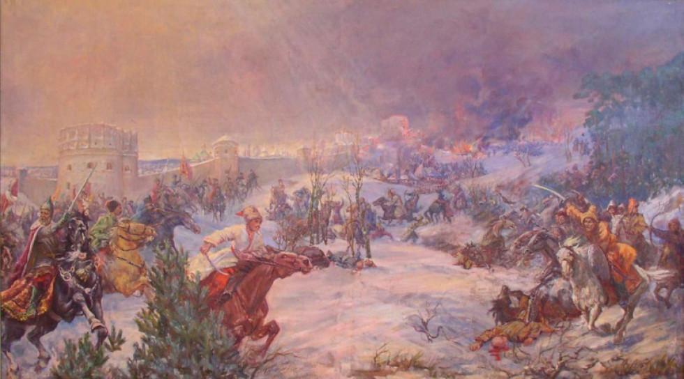 Л.І. Спаська. Бій під Острогом з Татарами