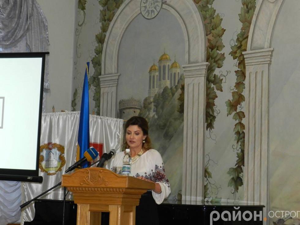 Виступ Марини Порошенко на «Острог Forum»