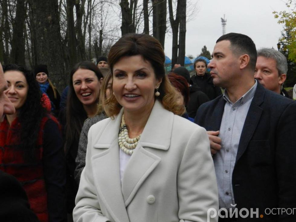 Візит Марини Порошенко в Острозьку академію