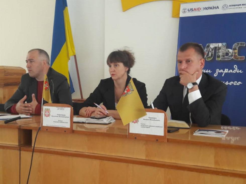 Богдан Турович (перший праворуч) під час робочої наради