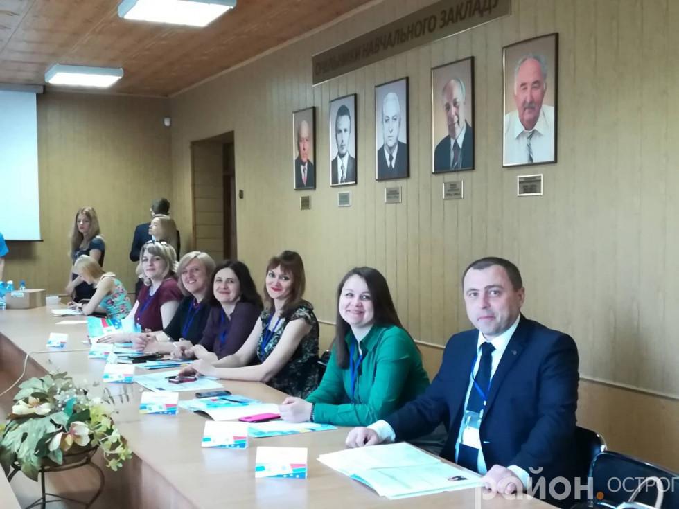Представники Острозької академії під час  презентації Центру професійної орієнтації та консультування НаУОА