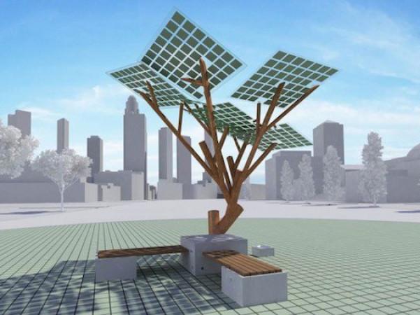 Сонячне Wi-Fi дерево. Фото ілюстративне
